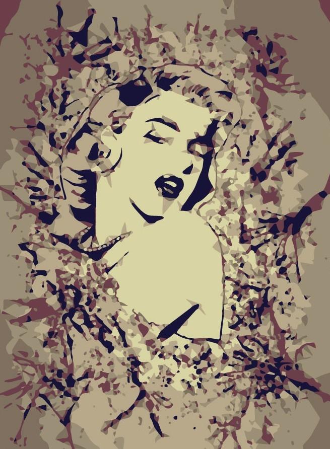 Marilyn Monroe by Rachel.